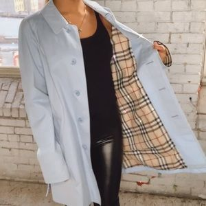 Burberry London light blue single breast trench
